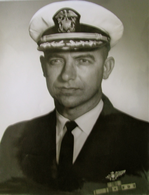 Cmdr. Thomas is pictured in this formal photograph about the time he retired from the Navy at 39 in 1971. Photo provided