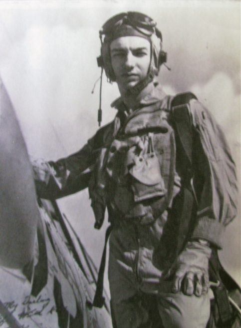 Bob Thomas was 20 when this picture was taken while he was learning to fly in 1951 at Pensacola Naval Air Station. He is standing on the wing of an SNJ Navy two-seated trainer. Photo provided