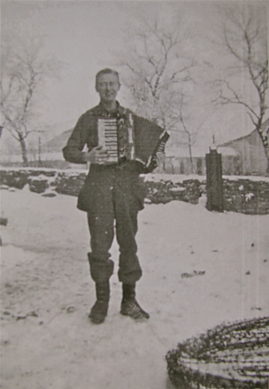 Even in the middle of the second World War, Barth was able to find a German accordion he played for the troops when they were fraternizing with the frauliens. Photo provided
