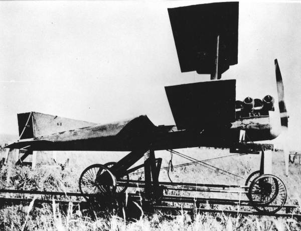 "This World War I flying bomb was tested at Carlstrom Field, near Arcadia, in October 1918 just before the end of the war. Its concept was the basis for the German V-1 ""Buzz Bomb"" used in WWII to devastate London. Photo provided by U.S. Cleveland"