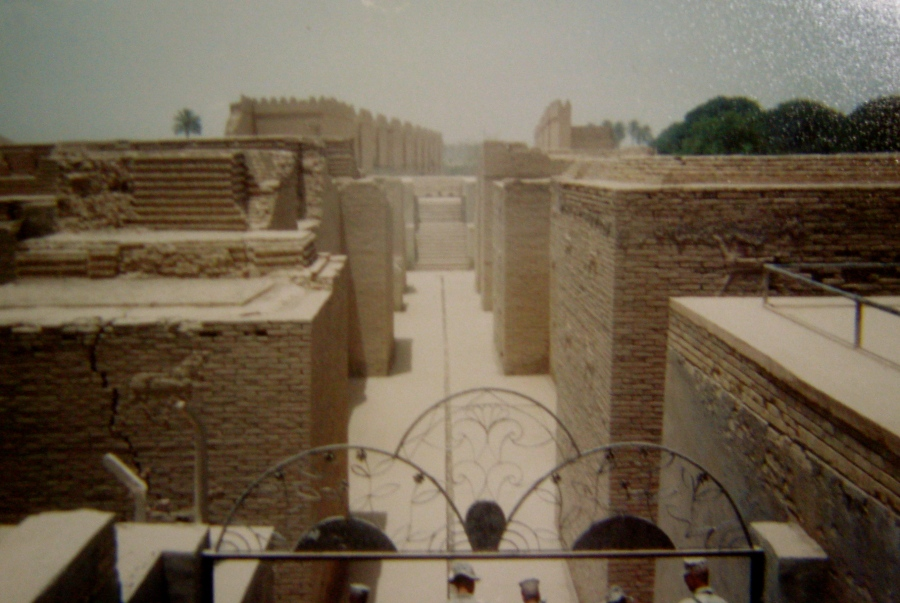 This is the Biblical city of Babylon. Martin and members of his 7th Engineering Support Battalion discovered while driving around the desert in Iraq during one of his three tours there. Photo provided