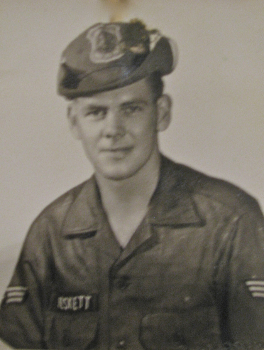Jim Heskett of Punta Gorda is pictured as a new Air Force recruit about the time he got out of boot camp at Lackland Air Force Base in San Antonio, Texas. It was 1958 and he was 17. Photo provided