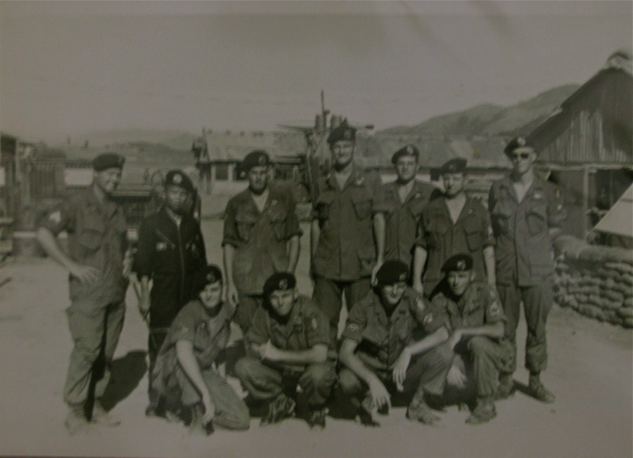 Sgt. 1st Class Billy Reid (second from the right back row) is pictured in Vietnam with Capt. Hugh Shelton (center back row) commander of a Special Forces A-Team in Ha Thahn, Detachment 104 in 1967. Shelton became Chairman of the Joint Chief of Staff, the highest ranking officer in the U.S. military. Photo provided