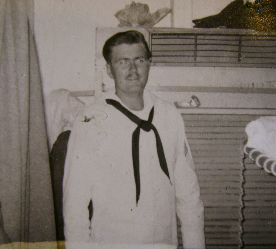 Seaman Richard Hartley of Port Charlotte is pictured in one of three battered pictures he still has of himself in 1967, about the time he served aboard the USS Mathews, an attack transport, in Vietnam. Photo provided