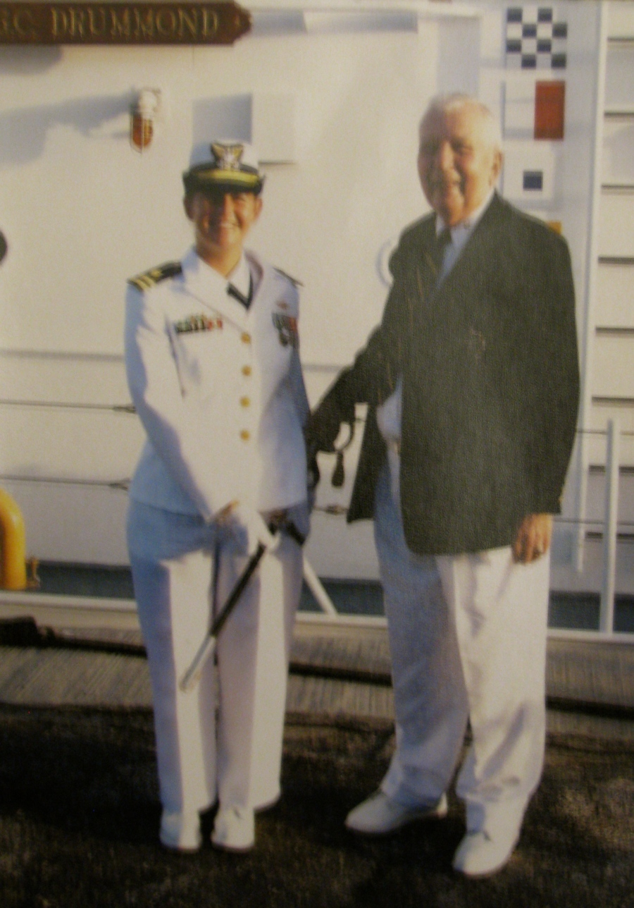 Lt. Kathy Felder and Rohn, her grandfather, were in Key West when this picture was taken. At the time she was the skipper of the Coast Guard Cutter Drummond. Photo provided