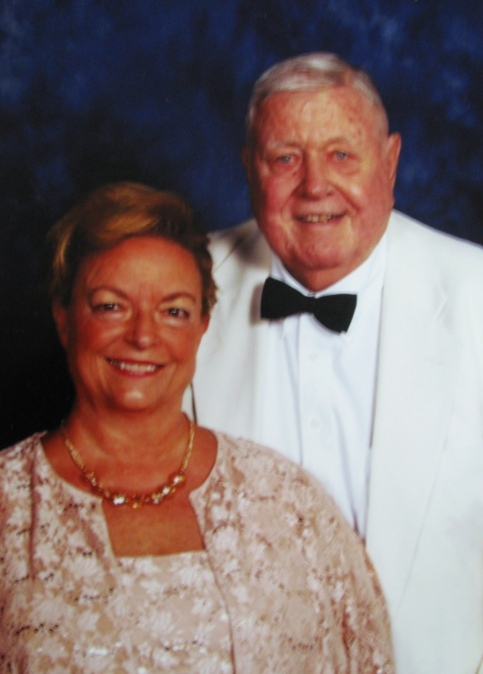 Sharyn and Bob Dickinson are all dressed up for a recent local soiree'. Photo provided