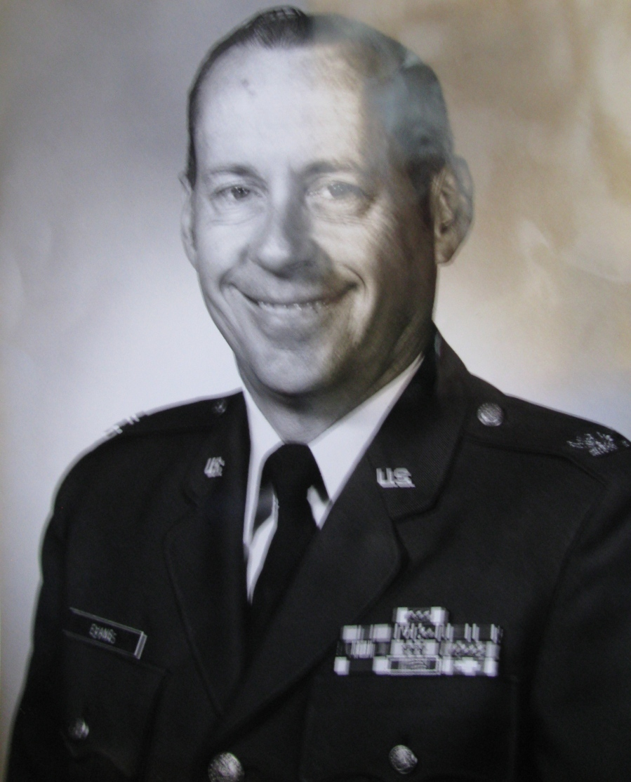 "Col. Charles Evans of Deep Creek was a ""bird colonel"" in the Strategic Air Command who served all over the world in various capacities during the Vietnam period. He served 26 years in he Air Force. Photo provided"