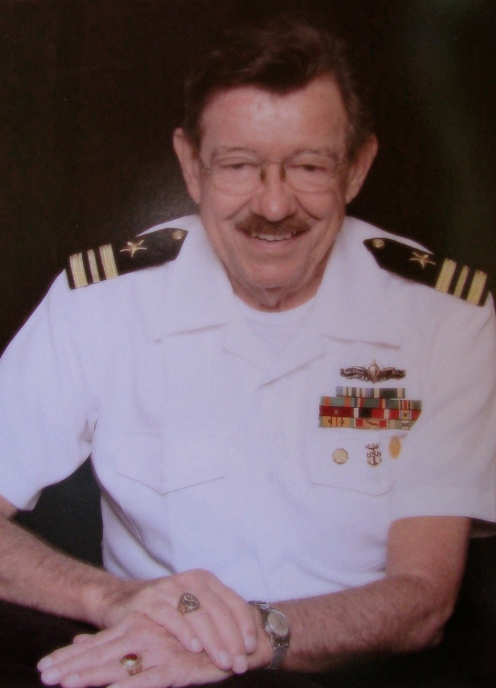 Lt. Cmdr. Howard Dole of Port Charlotte in his summer Navy uniform. He began as a 1/C radarman aboard a minesweeper in 1948 and ended up working with Navy seal teams in Hawaii in 2001. Photo provided