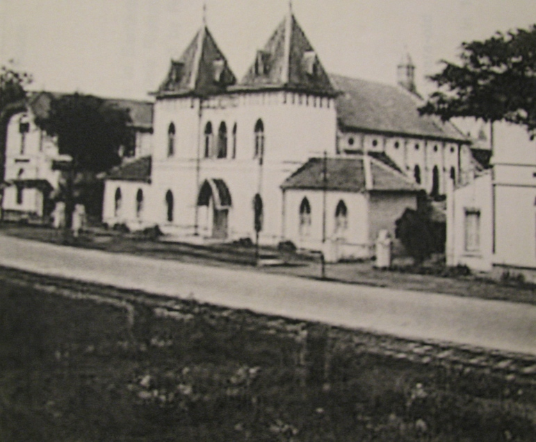 This Catholic high school and church in Semarang, Java was turned into a Japanese concentration camp for children where Rienstra and his cousin, Hans, were confined during World War II. Photo provided by Robert Tienstra