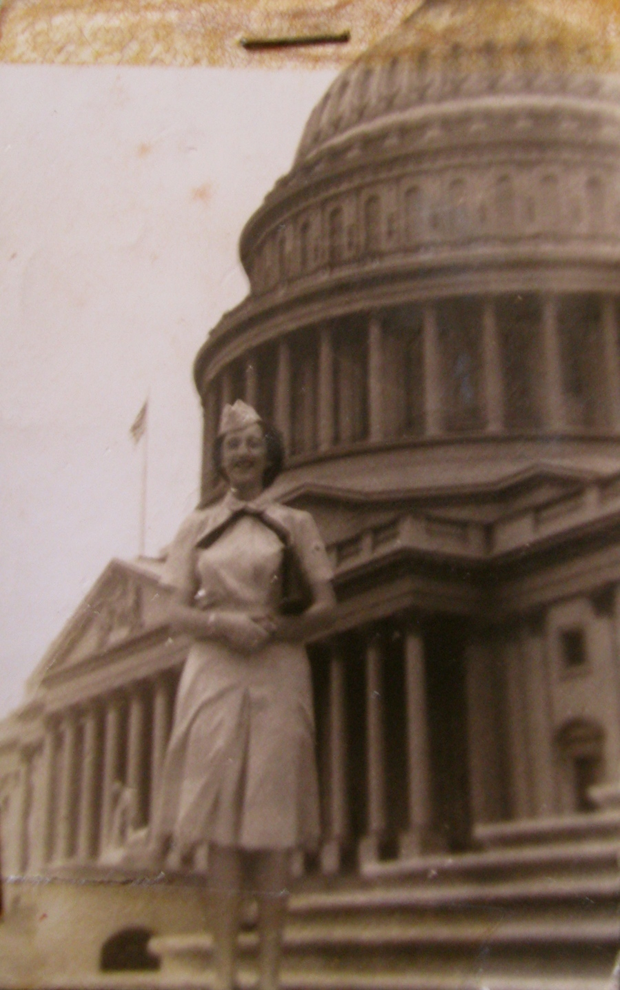 When this picture of Margaret on the steps of the capitol in Washington, D.C. was taken she was serving as a nurse at St. Albans Naval Hospital in New York State. Photo provided