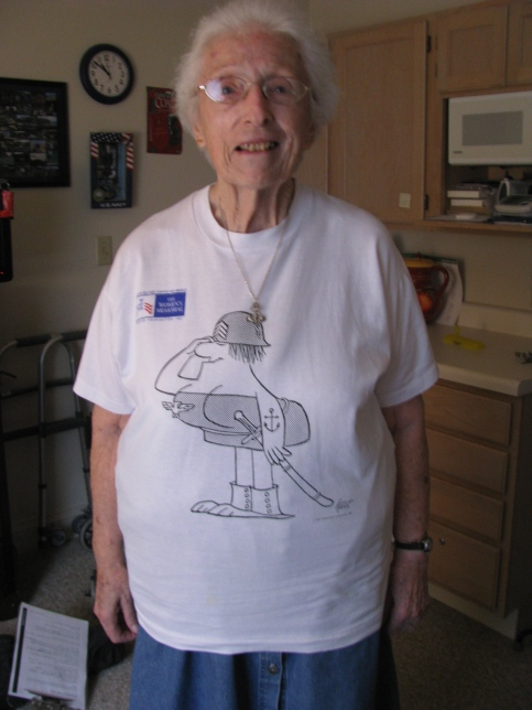 This is Margaret Hain at her apartment in Sterling House in Punta Gorda. She is 89. Sun photo by Don Moore