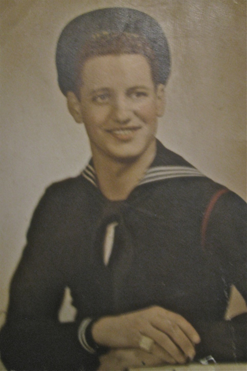 Joe Medina of Port Charlotte was just getting out of boot camp at Bainbridge, Md. in 1946. Photo provided