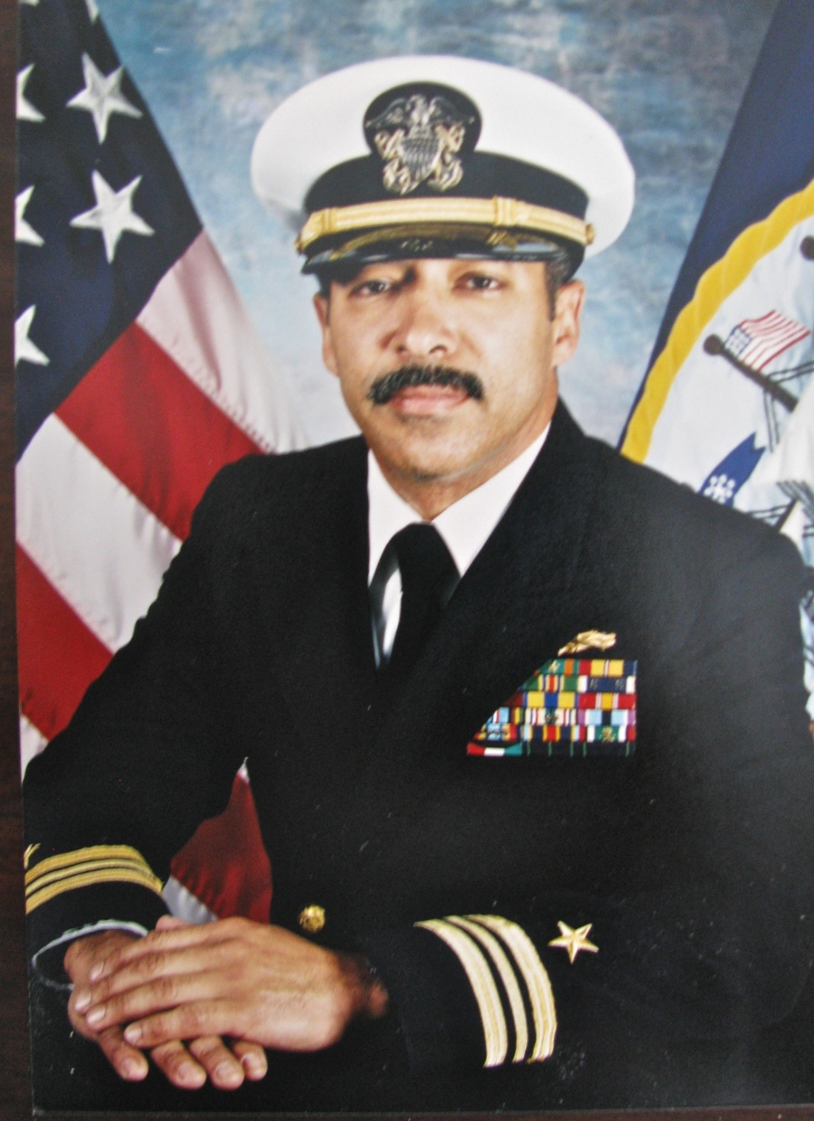 Dan Avenancio is pictured as a lieutenant commander in his Navy dress uniform in 2000 when he retired. Photo provided