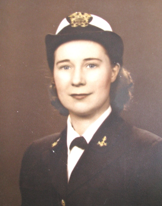 Helen Salins of Polynesian Village in north Englewood is pictured as a 25-year old WAVE when she first entered the Navy in 1941. She served during all of World War II. Photo provided