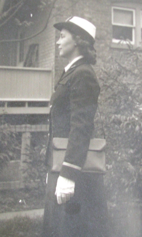 Salins is pictured in her WAVE uniform walking down the street in Washington, D.C. Photo provided