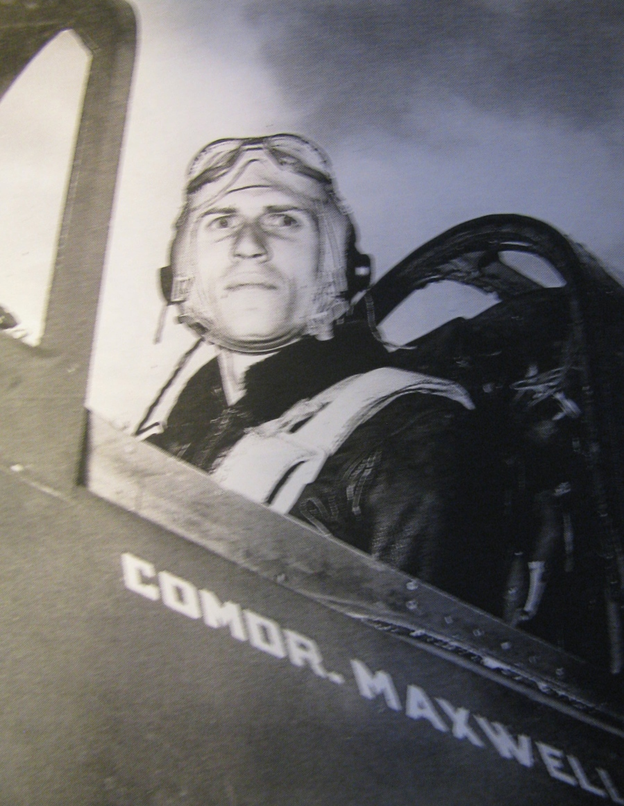 "Legendary Cmdr. Porter Maxwell, commander of Helldiver Squadron 87 aboard he aircraft carrier USS Ticonderoga. He died when his Helldiver was shot down just before the end of World War II. Lt. Bill Timmis, who served in his squadron, said he was: ""the perfect Naval officer' 60 years after his death. Photo provided"