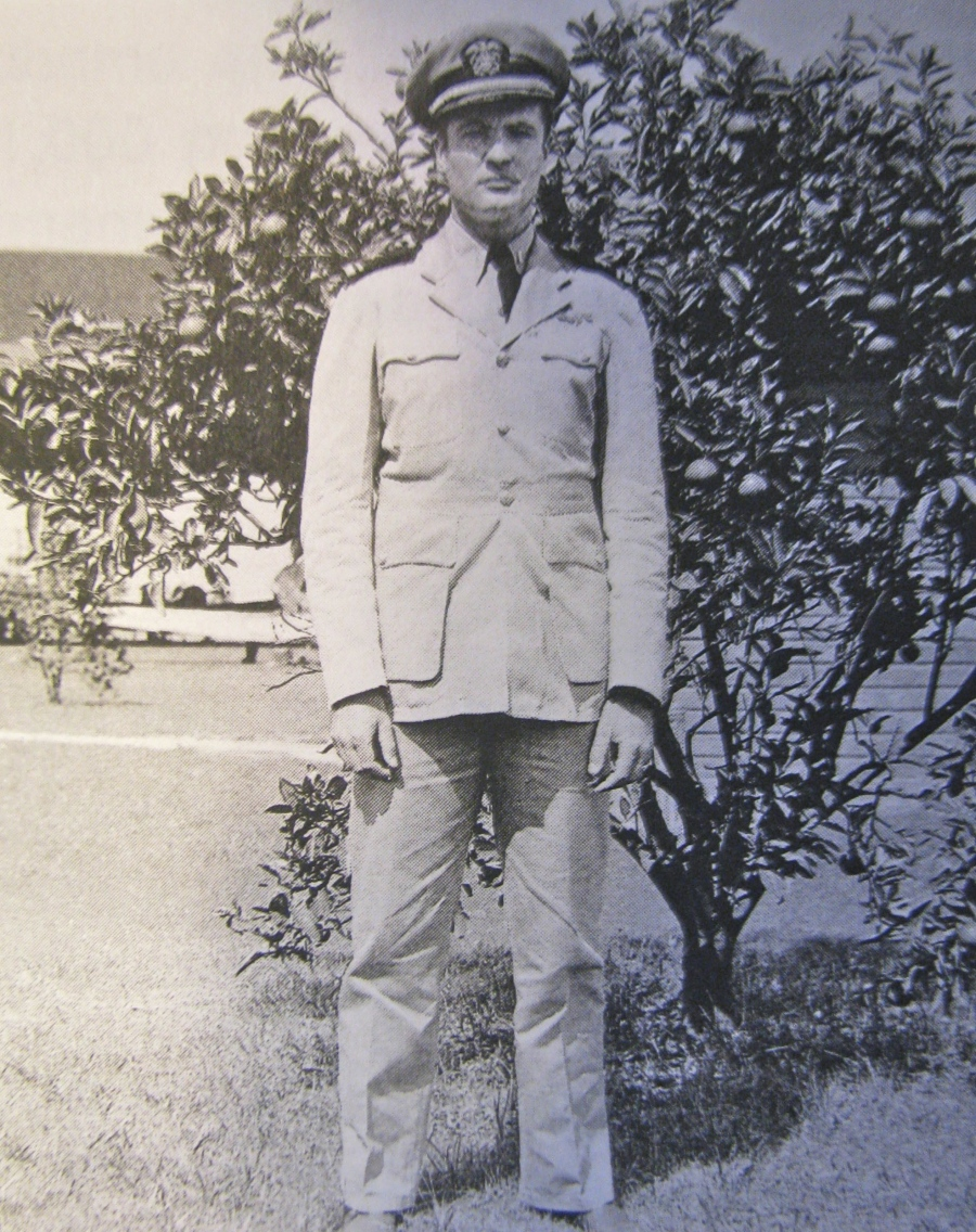 This was Timmis shortly after being commissioned an aviator and junior grade lieutenant. When this picture was taken in the summer of 1943 he was a dive bomber instructor at Daytona Naval Air Station. Photo provided