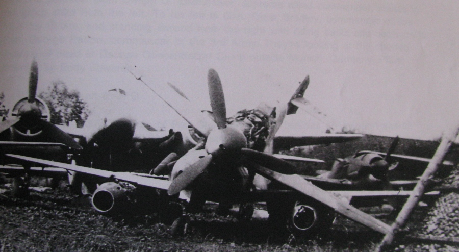 On the bottom of the pile is a battered Messerschmitt 262 turbojet fighter. It was the first operational jet to take on the air during World War II. Edwards shot the picture near Munich, Germany at the end of the war. Photo provided