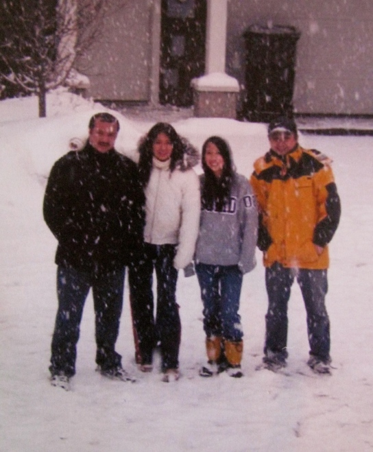All four of her children at home in the Minneapolis area one snowy day. From the left Minh, Lynn,  Duc-An and Khai. Photo provided