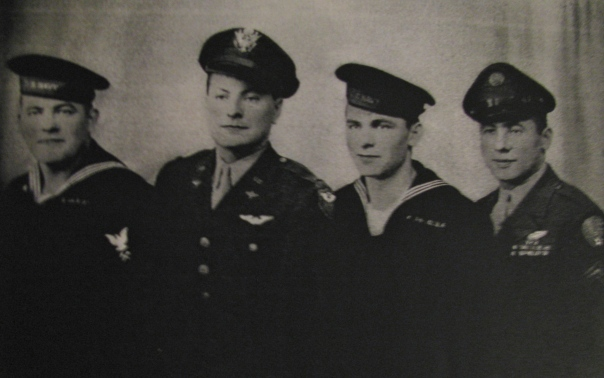 John Wrublevski with his three brothers. John is the sailor on the right. All four brothers made it home from the war. Photo provided.
