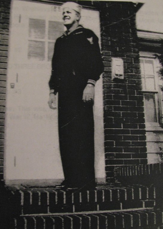 This was Wrublevski in his 20s when he was serving in the Navy during World War II. He is standing on the front steps of his home in N.J. Photo provided