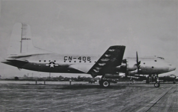 This C-74 Globemaster #1 that Pickering flew was the world's largest transport when this photo was taken in 1948 at an Air Force beast near Mobile, Ala. Photo provided by John Pickering