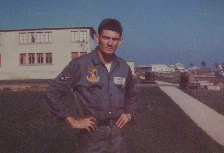 Airman 2/C Carter Endsley is pictured at Chaumont Air Force Base in France in the 1950s. He worked as a jet engine mechanic in the 48th Tactical Fighter Wing that faced off against the Soviet Union in Europe in those days. Photo provided