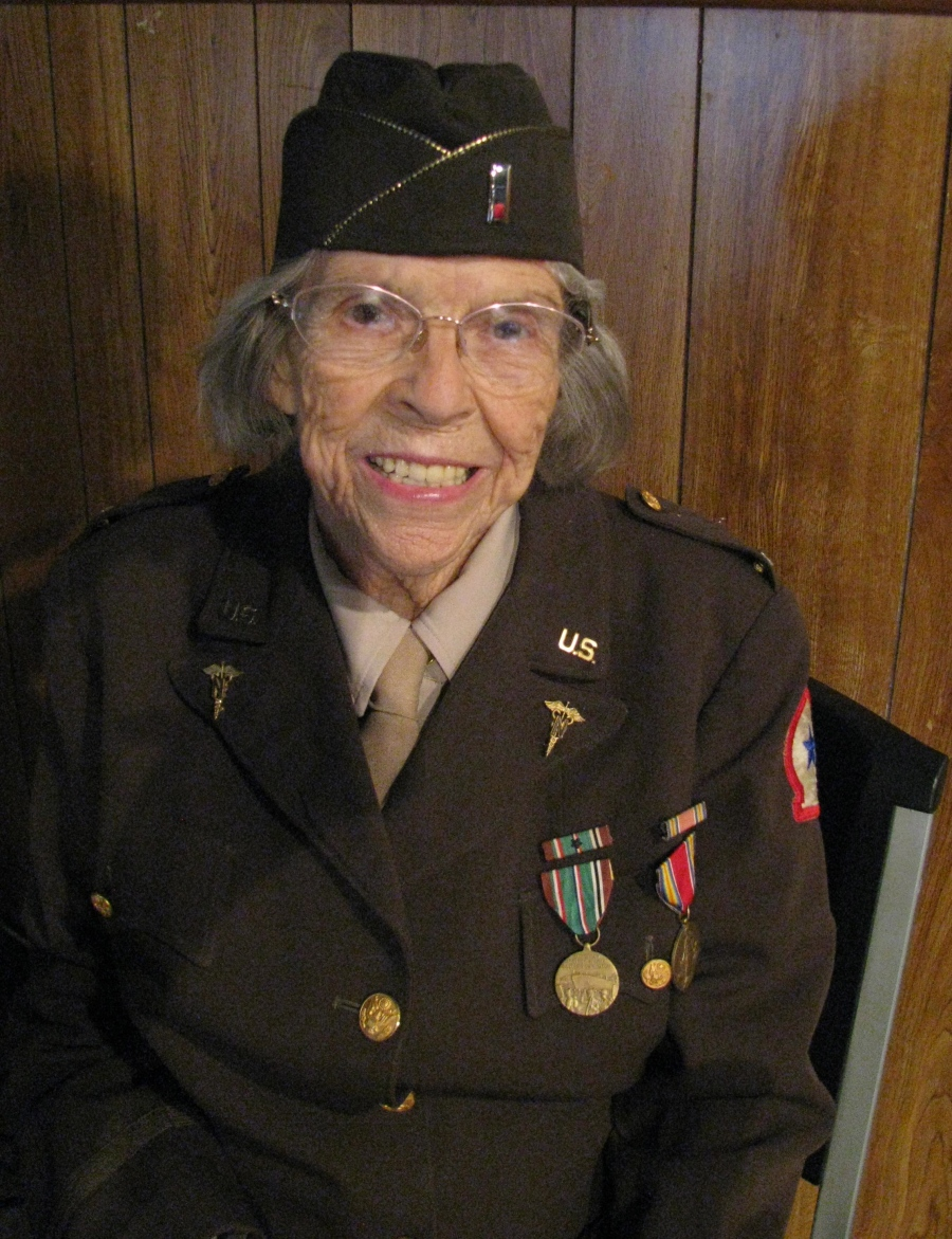 At 92 former Lt. Jean Clough of
