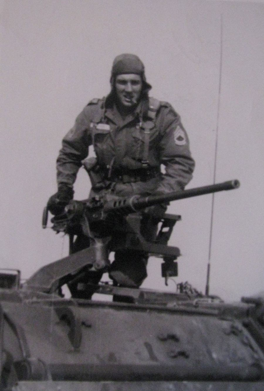 Sgt. Charles Dusek who served with the 25th Infantry Division during the Vietnam War is pictured atop an Armored Personnel Carrier with his .50 caliber machine-gun. He was a sergeant in Vietnam. Photo provided