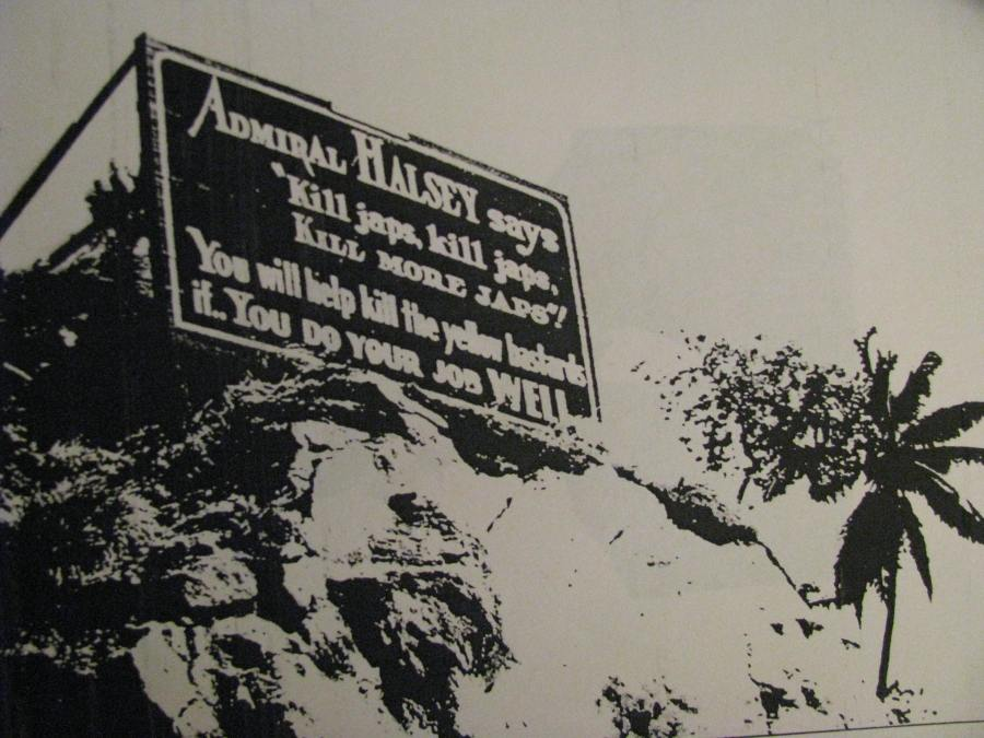 Adm. Bull Halsey had a theory about what to do with the Japanese. He was the naval commander at Guadalcanal, O'Donnell's first major battle during the second World War. The sign was along the canal that led to the American PT boat base near Guadalcanal. Photo provided