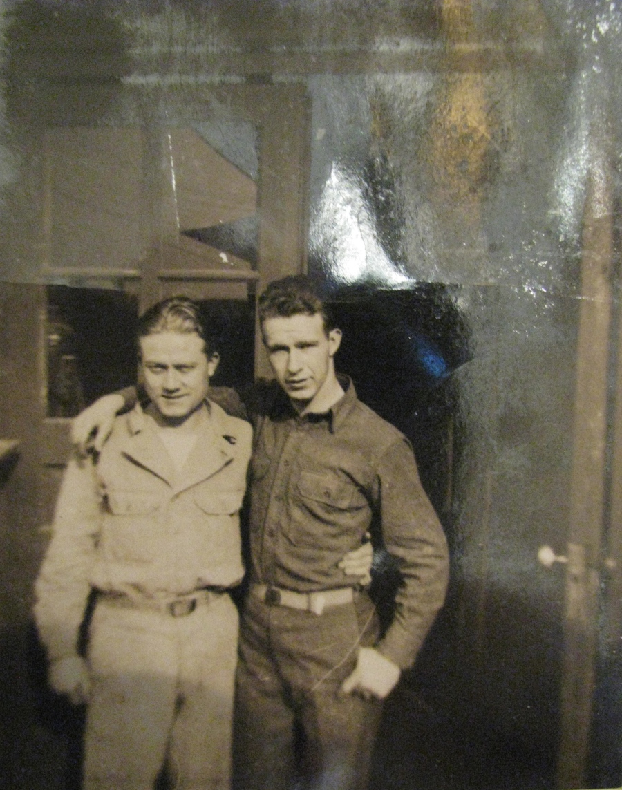 Yeager (left) and a buddy, whose name he can't recall 70 years later, somewhere in Europe during World War II. Photo provided