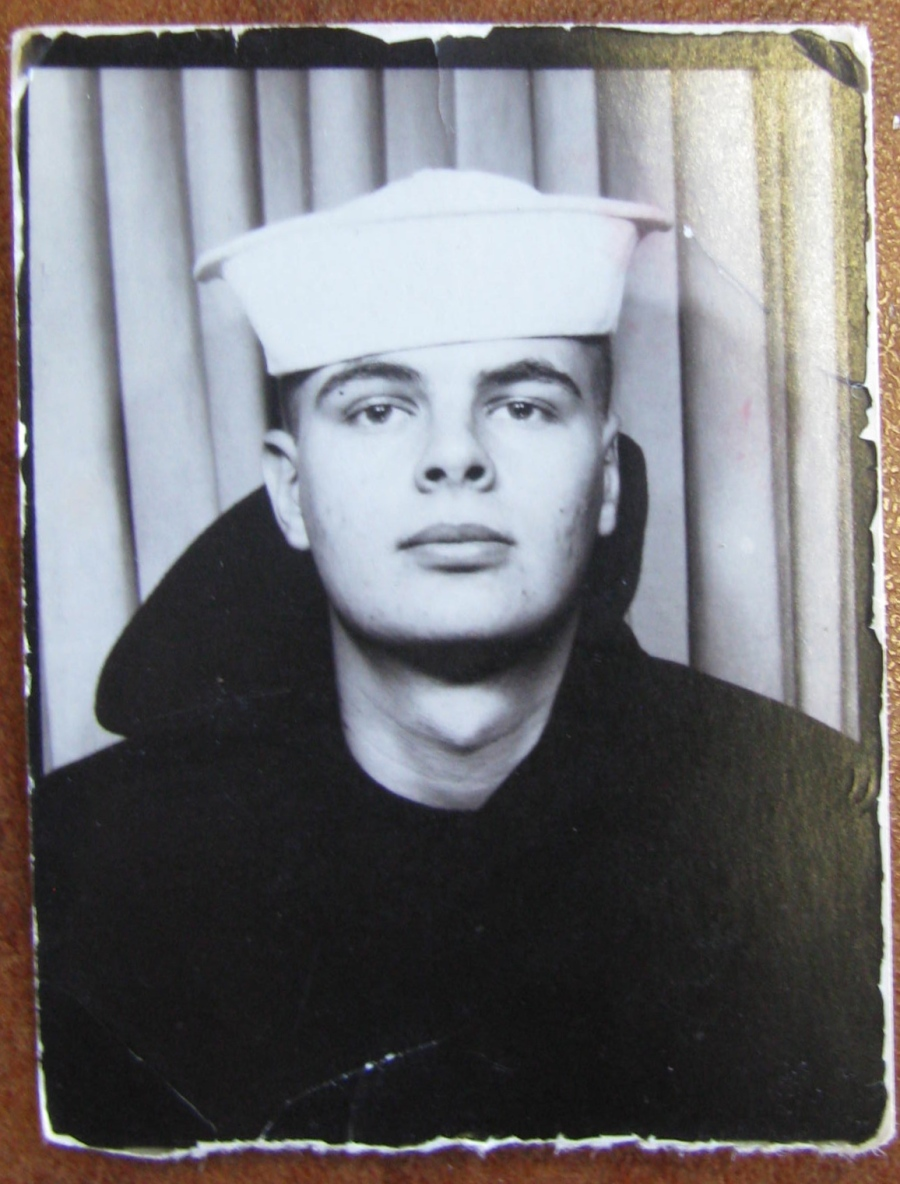 Norm Holloway was 19-years-old and just out of boot camp at Great Lakes Naval Training Center in 1968 when this shot was taken. Photo provided
