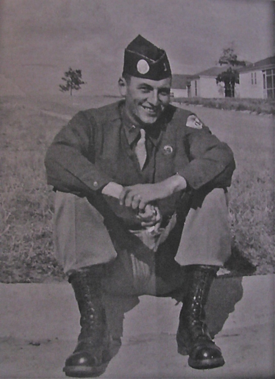 Andy Carrico is pictured as a paratrooper at Fort Polk, La. before he was shipped to the Pacific Theatre of Operations with the 511th Airborne Regiment during World War II. Photo provided