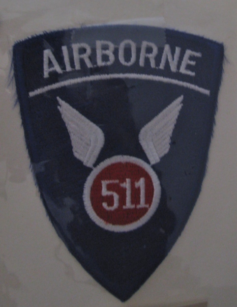 This 511 Parachute Infantry Regiment patch was worn by Carrico and the soldiers in this unit who fought in the Pacific during the Second World War. Sun photo by Don Moore