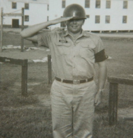 Rudness was goofing off in basic at Fort Knox, Ky. saluting the camera. Photo provided