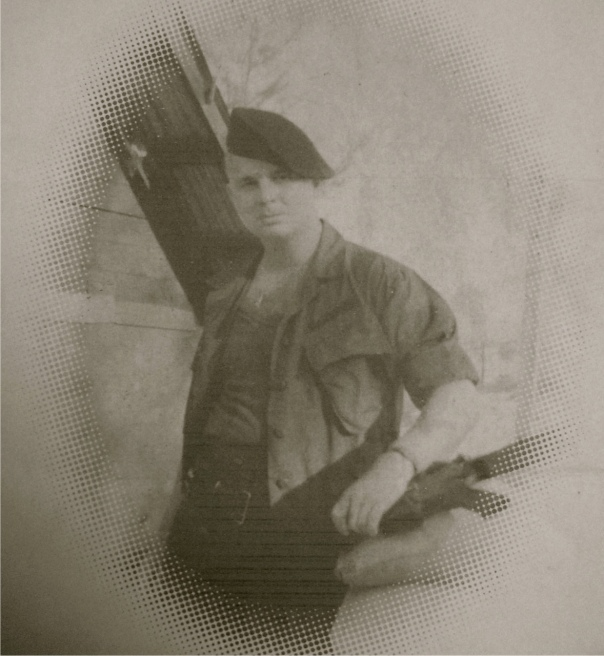 Jack Monahan holds his M-14 assault rifle. He was 21 when this picture was taken in 1965 in his base camp in Da Nang, Vietnam. He was a Seabee in the 9th Mechanized Construction Battalion working with the 3rd Marine Amphibious Assault Force. Photo provided