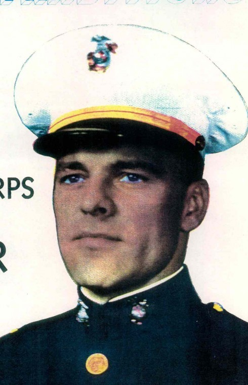 "Paul Vnencak was a ""Marine poster boy"" during World War II. This picture of him in full-dress uniform appeared in hundreds of post offices throughout the country during the war. Photo provided"