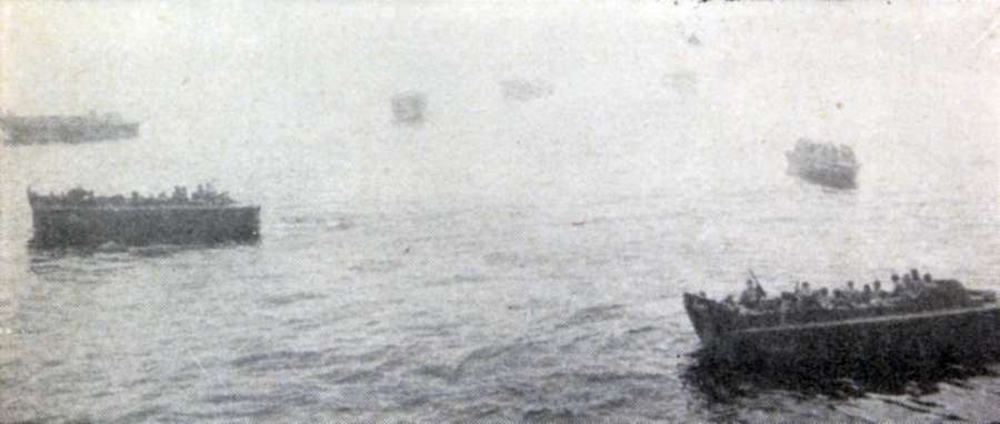 Fog was so dense in the attack on Attu that U.S. forces circled for hours before landing. The invasion was slated for 6:30 a.m. but some soldiers did not reach shore until 3:30 p.m. Photo provided
