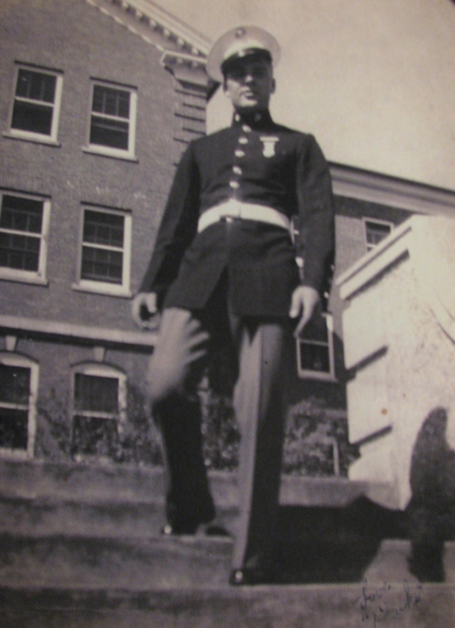 The war had just started when this picture was snapped of Vnencak at the Marine base at Quantico, Virginia in 1941. Photo provided