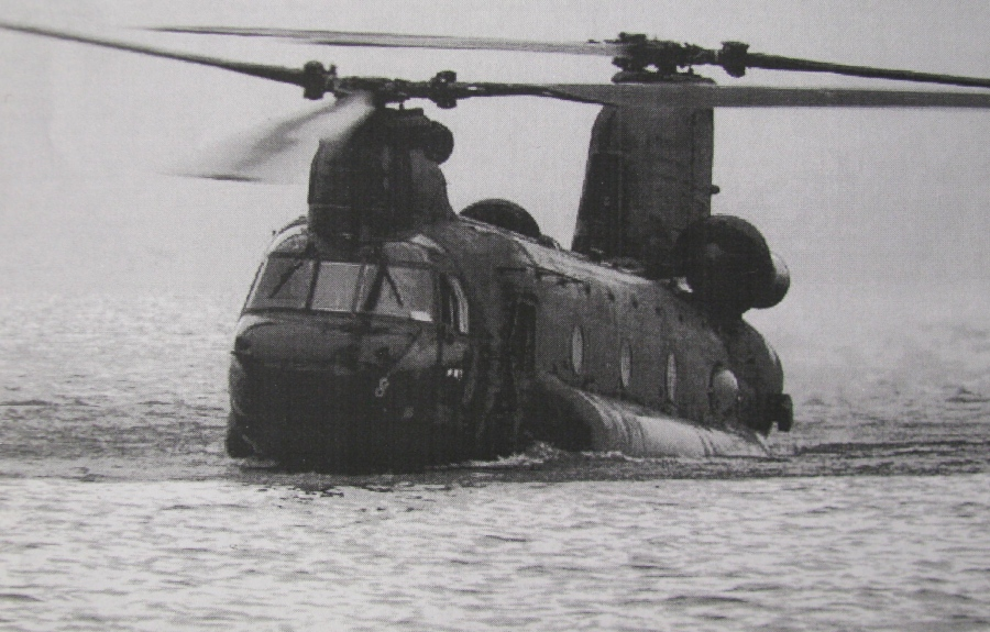 He flew a CH-47 Chinook helicopter like this when he returned to the States from Vietnam. Photo provided