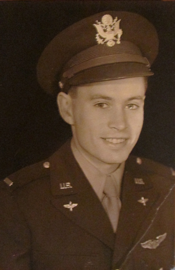 2nd Lt. Dick Hughes at 23, just after he graduated in 1943 from flight school shortly before he started flying a B-25 bomber for the 12th Air Force in Europe during World War II. Photo provided
