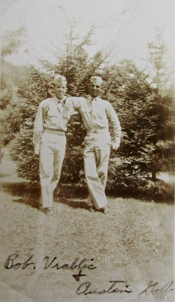 Pvt. Bob Goff (right) and his buddy Bob Vrablic in the Army at Fort Monmouth, N.J. training to be radio communication specialists in 1948. Photo provided