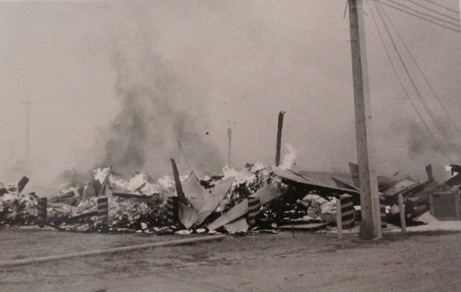 After the Tet Offensive this is what some of the storage buildings on the base at Bein Hoa looked like. They were hit by enemy 122 mm rockets and mortars during the massive raid that turned the country upside down militarily and politically in 1969. Photo provided