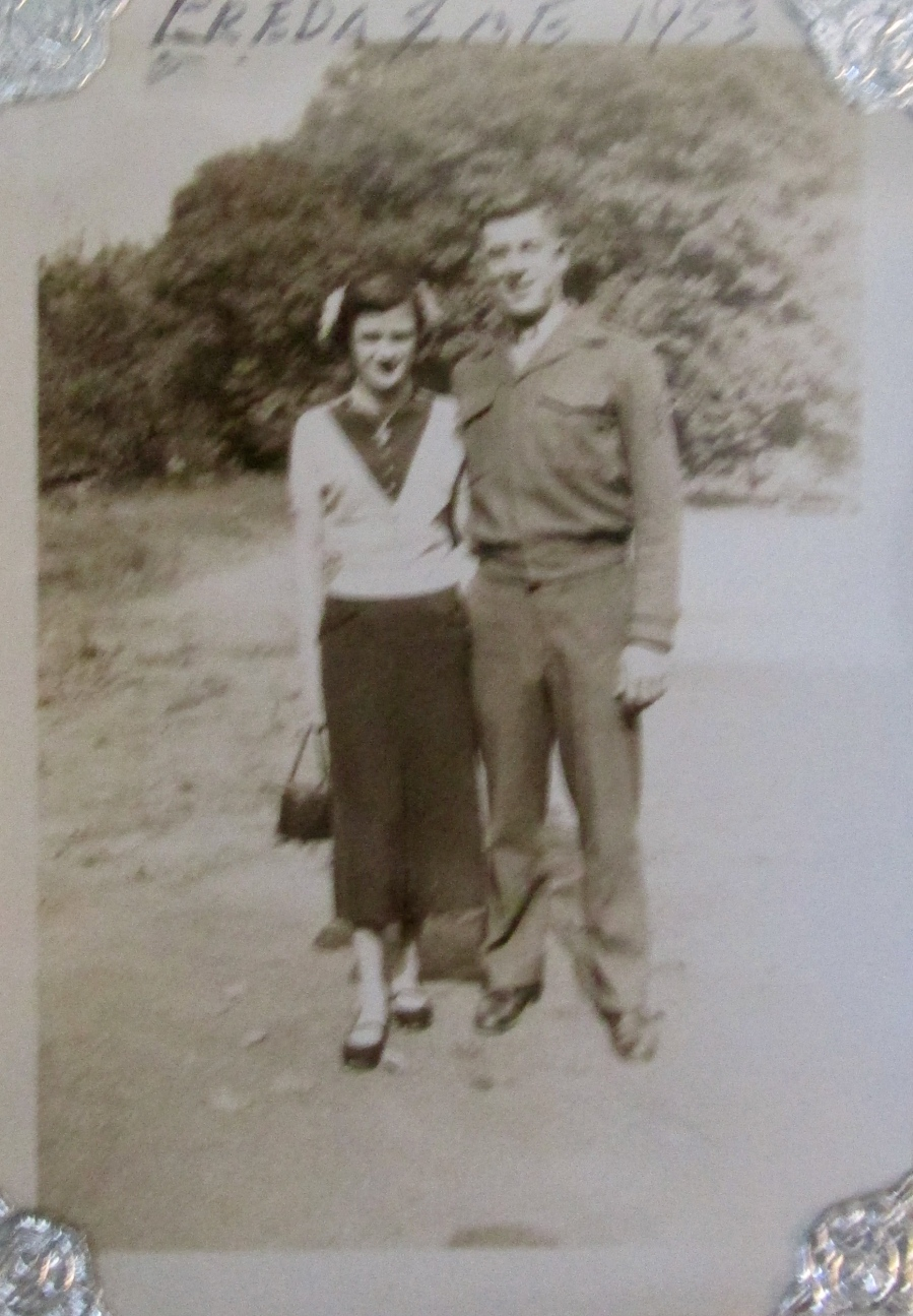 This picture of Freda and Larry Cote in his Marine Corps uniform was taken in 1953 shortly after he returned from the Korean War. It was about the time the couple was married. Photo provided