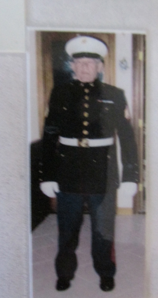 At 75 Cote in clad in his Marine Dress Blues. Photo provided