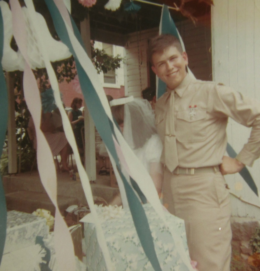 Gettle when he got married on June 17, 1967 before he went to Vietnam with the Marine Corps. He was 18 years-old at the time. Photo provided