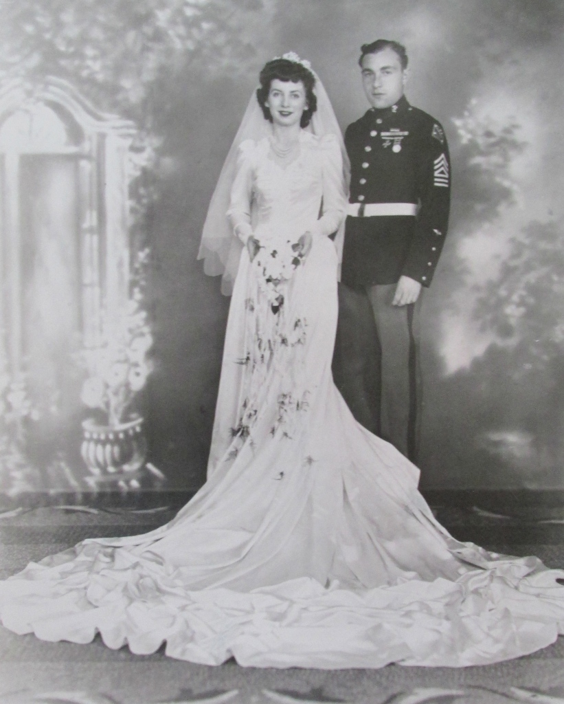 Buff and his late wife, Rose, on their wedding day, Dec. 19, 1943, in Glen Cove, N.Y. They were married 65 years. Photo provided