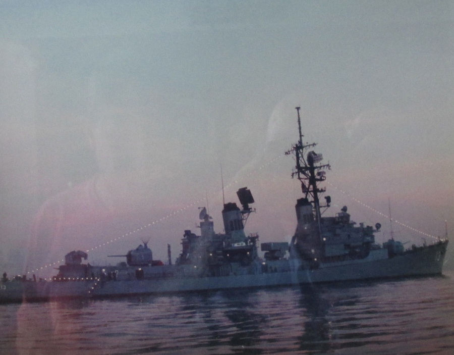 This is the guided missile destroyer Henry B. Wilson (DDG-7) Berree served as skipper of the ship in the late 1980s. Its home port was San Diego. Photo provided