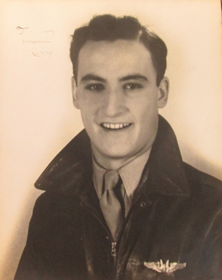 Sgt. Larry Rhodes in his leather flight jacket with his wings on his pocket. He was in his early 20s when this picture was taken during the time he served in the China, Burma and India Theatre in World War II. Photo provided