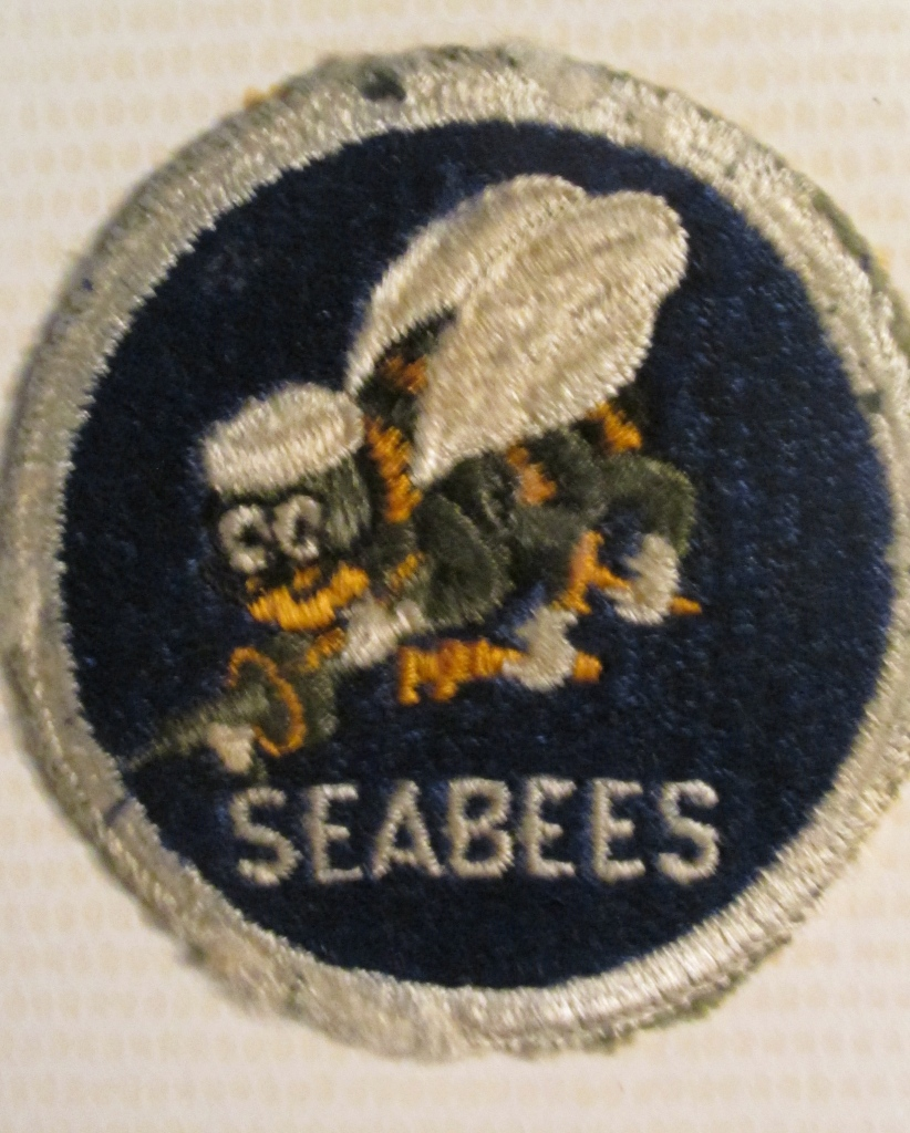 This is the Seabees shoulder patch during World War II that Hope and is buddies wore.